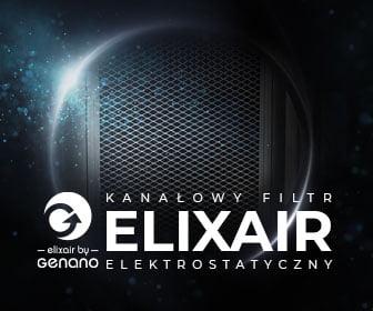 ELIXAIR – kanałowy nanofiltr elektrostatyczny z jonizatorem powietrza